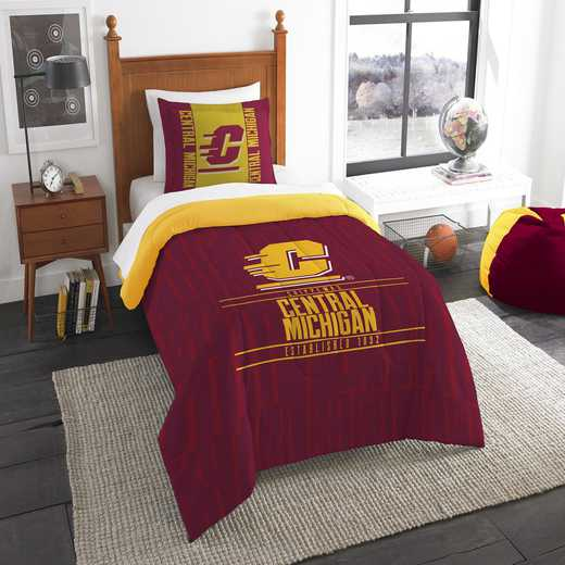 1COL862000103RET: NW NCAA F/Q Comforter Set, Central Michigan